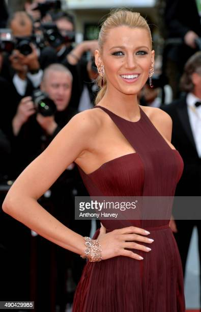 """Blake Lively attends the opening ceremony and """"Grace of Monaco"""" premiere at the 67th Annual Cannes Film Festival on May 14, 2014 in Cannes, France."""