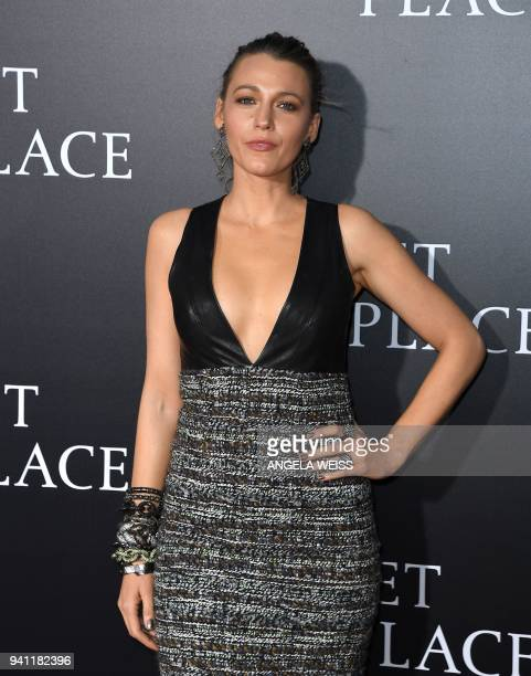 Blake Lively attends the Paramount Pictures premiere for 'A Quiet Place' at AMC Lincoln Square Theater on April 2 2018 in New York City / AFP PHOTO /...