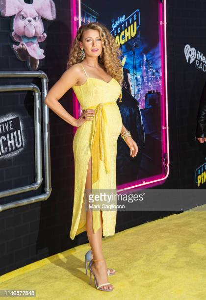 Blake Lively attends the Pokemon Detective Pikachu US Premiere at Times Square on May 02 2019 in New York City