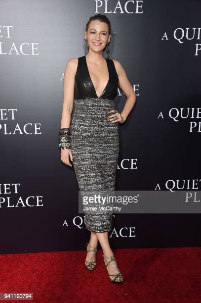 """Blake Lively attends the premiere for """"A Quiet Place"""" at AMC Lincoln Square Theater on April 2, 2018 in New York City."""