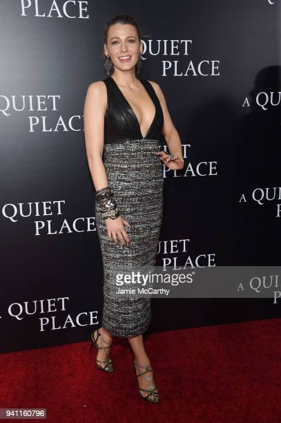 Blake Lively attends the premiere for 'A Quiet Place' at AMC Lincoln Square Theater on April 2 2018 in New York City
