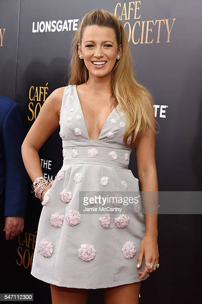 Blake Lively attends the premiere of 'Cafe Society' hosted by Amazon Lionsgate with The Cinema Society at Paris Theatre on July 13 2016 in New York...