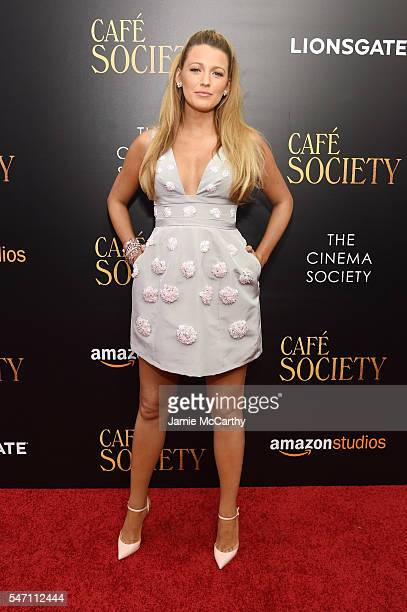 "Blake Lively attends the premiere of ""Cafe Society"" hosted by Amazon & Lionsgate with The Cinema Society at Paris Theatre on July 13, 2016 in New..."