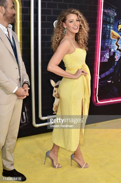 """Blake Lively attends the premiere of """"Pokemon Detective Pikachu"""" at Military Island in Times Square on May 2, 2019 in New York City."""
