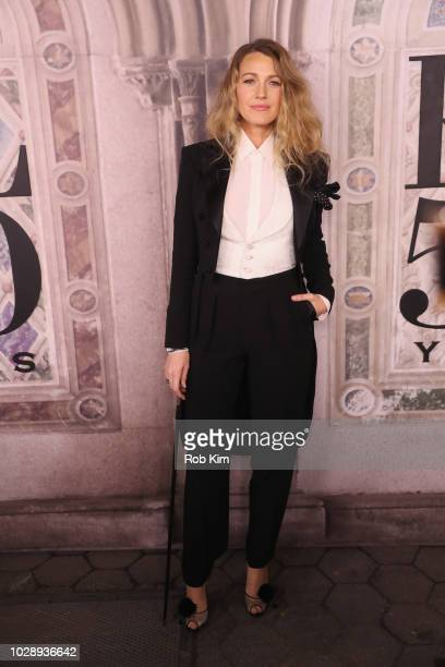 Blake Lively attends the Ralph Lauren fashion show during New York Fashion Week at Bethesda Terrace on September 7 2018 in New York City