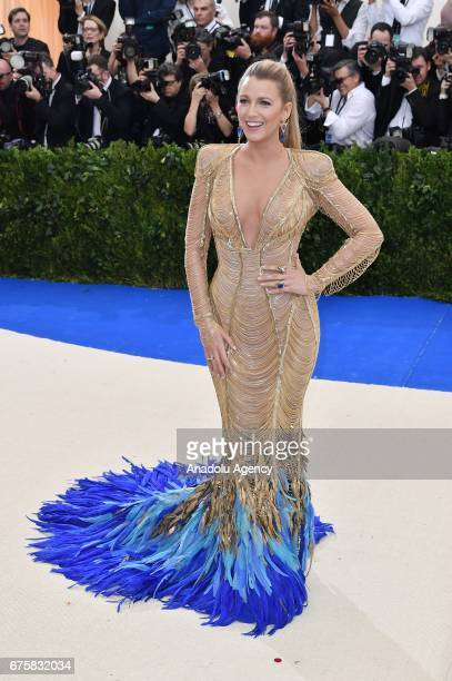 Blake Lively attends the 'Rei Kawakubo / Comme des Garcons Art Of The InBetween' Costume Institute Gala 2017 at Metropolitan Museum of Art in New...