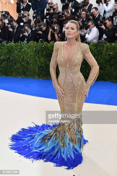 Blake Lively attends the 'Rei Kawakubo / Comme des Garcons: Art Of The In-Between' Costume Institute Gala 2017 at Metropolitan Museum of Art in New...