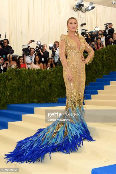 """Blake Lively attends the """"Rei Kawakubo/Comme des Garcons: Art Of The In-Between"""" Costume Institute Gala at Metropolitan Museum of Art on May 1, 2017..."""