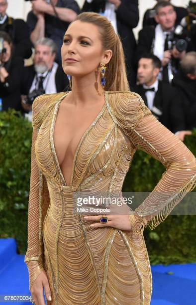 Blake Lively attends the 'Rei Kawakubo/Comme des Garcons Art Of The InBetween' Costume Institute Gala at Metropolitan Museum of Art on May 1 2017 in...