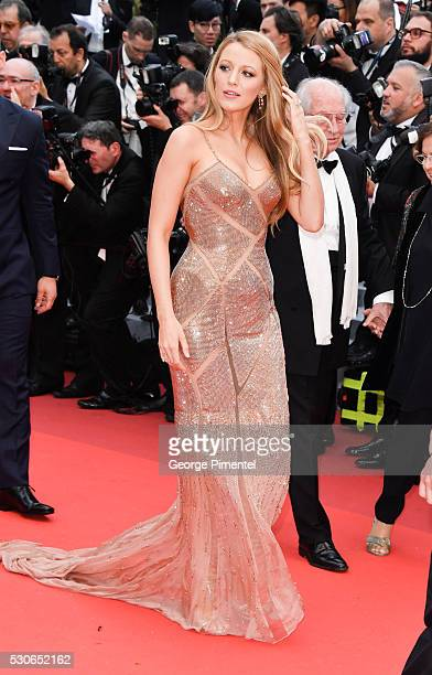Blake Lively attends the screening of Cafe Society at the opening gala of the annual 69th Cannes Film Festival at Palais des Festivals on May 11 2016...