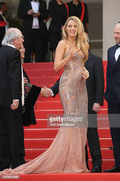 Blake Lively attends the screening of 'Cafe Society' at the opening gala of the annual 69th Cannes Film Festival at Palais des Festivals on May 11...