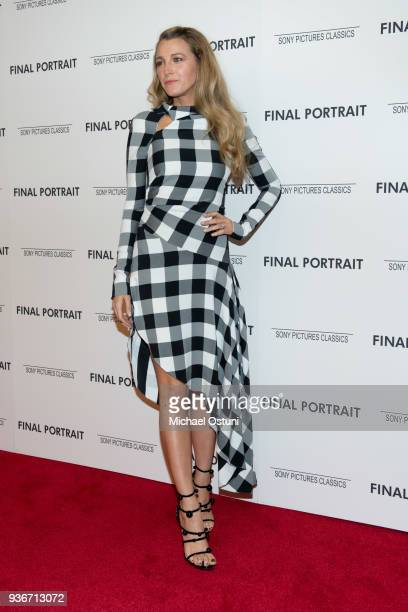 Blake Lively attends the screening of Final Portrait at Guggenheim Museum on March 22, 2018 in New York City.