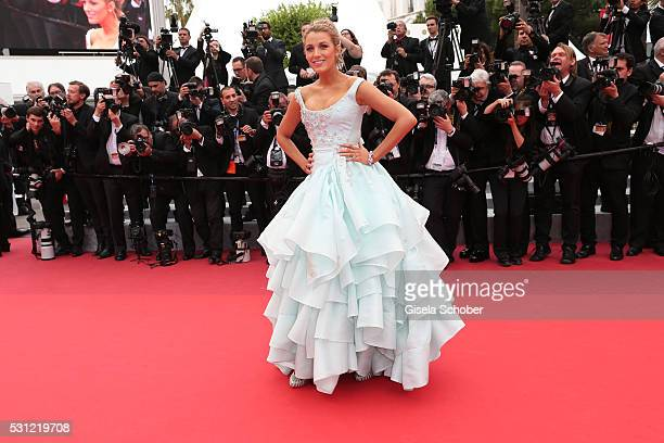 """Blake Lively attends the """"Slack Bay """" premiere during the 69th annual Cannes Film Festival at the Palais des Festivals on May 13, 2016 in Cannes,..."""