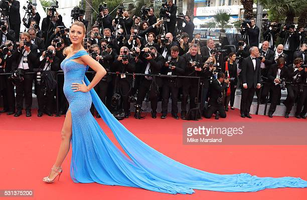 Blake Lively attends the 'The BFG ' premiere during the 69th annual Cannes Film Festival at the Palais des Festivals on May 14 2016 in Cannes France