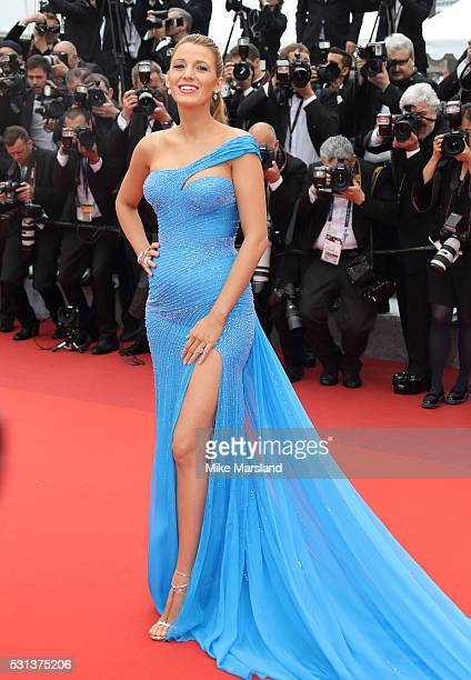 Blake Lively attends the The BFG premiere during the 69th annual Cannes Film Festival at the Palais des Festivals on May 14 2016 in Cannes France