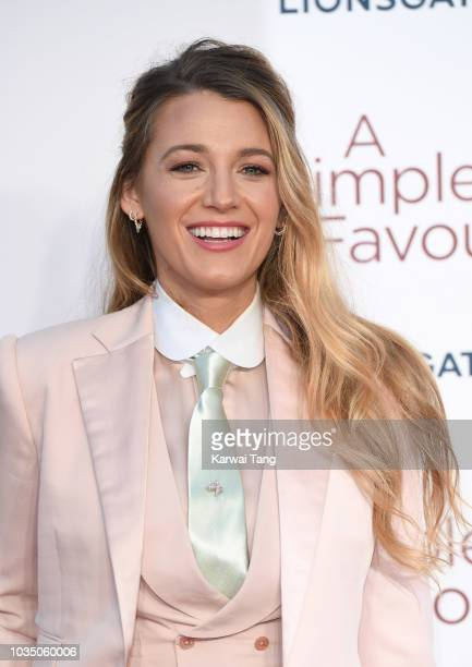 Blake Lively attends the UK premiere of 'A Simple Favour' at BFI Southbank on September 17 2018 in London England