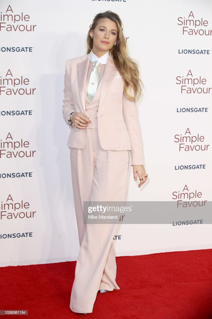 'A Simple Favour' UK Premiere - Red Carpet Arrivals : News Photo