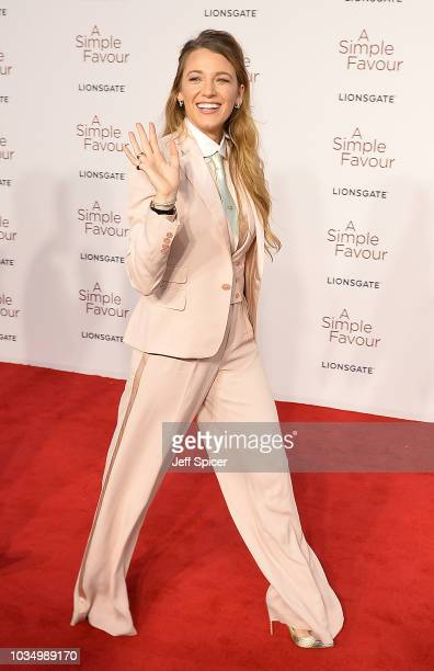Blake Lively attends the UK premiere of A Simple Favour at the BFI Southbank on September 17 2018 in London England