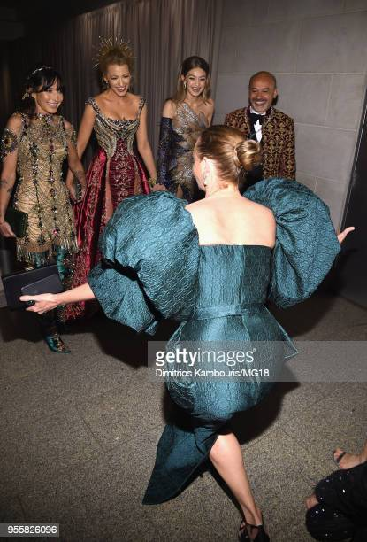 Blake Lively Gigi Hadid and Stella McCartney attends the Heavenly Bodies Fashion The Catholic Imagination Costume Institute Gala at The Metropolitan...