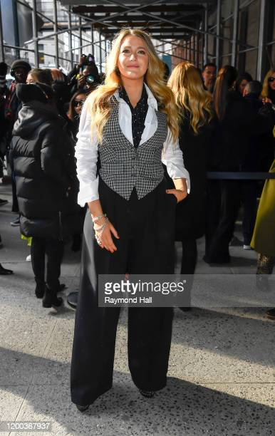 Blake Lively is seen arriving at the Michael Kors show during New York Fashion on February 12 2020 in New York City