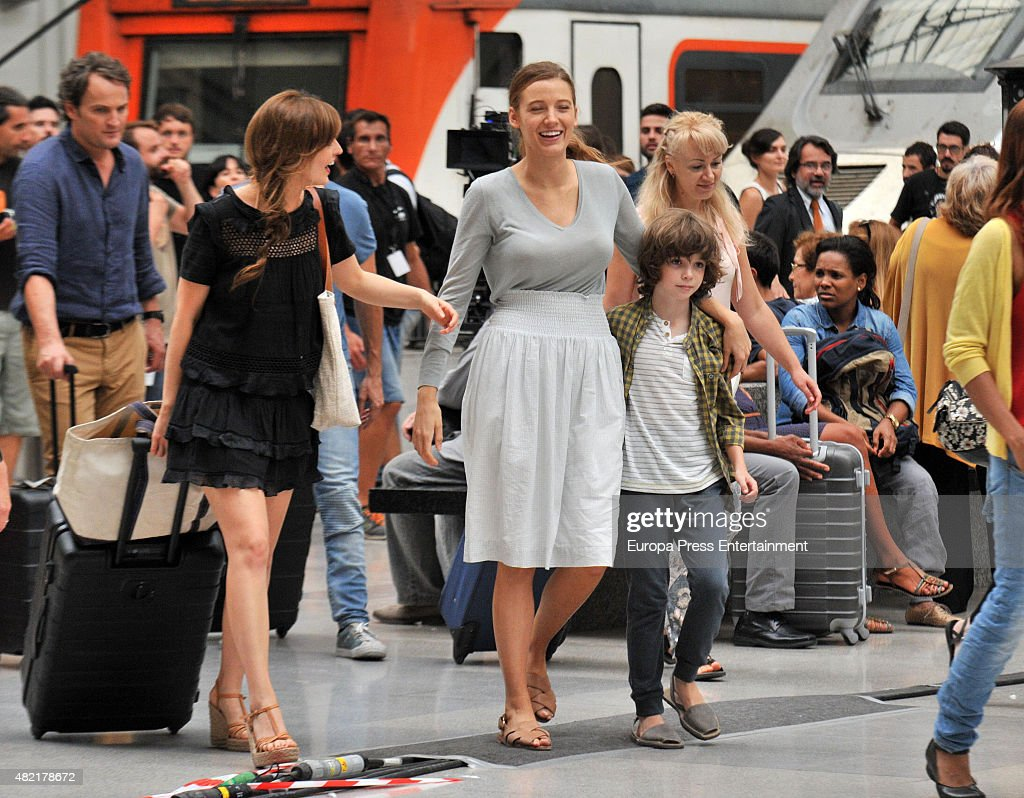 Blake Lively On Set Filming 'All I See Is You' In Barcelona - July 27, 2015 : News Photo