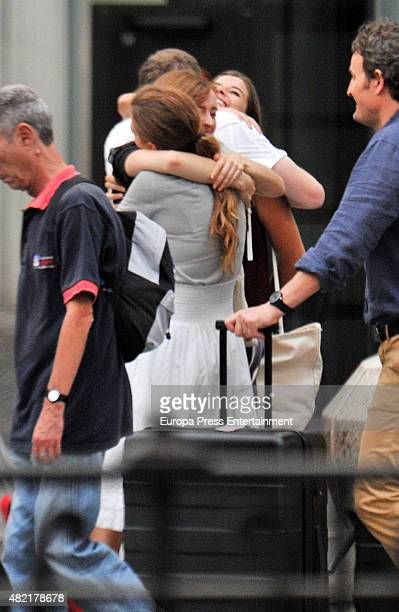 Blake Lively is seen during set filming of 'All I See Is You' on July 27 2015 in Barcelona Spain
