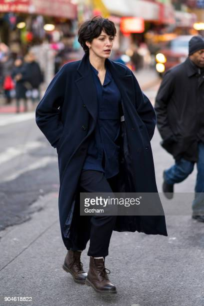 Blake Lively is seen filming 'The Rhythm Section' in Chinatown on January 13 2018 in New York City