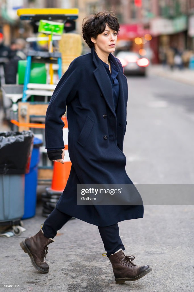 Blake Lively is seen filming 'The Rhythm Section' in Chinatown on January 13, 2018 in New York City.