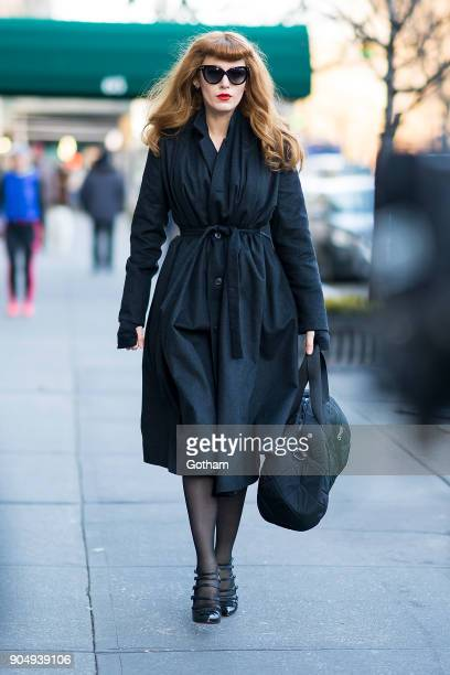 Blake Lively is seen filming 'The Rhythm Section' in the Upper West Side on January 14 2018 in New York City