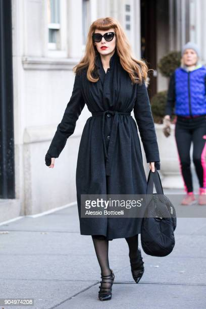 Blake Lively is seen filming 'The Rhythm Section' on January 14 2018 in New York New York