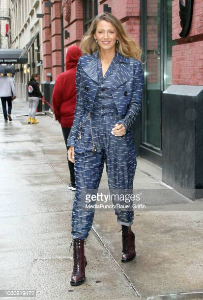Blake Lively is seen on September 10 2018 in New York City