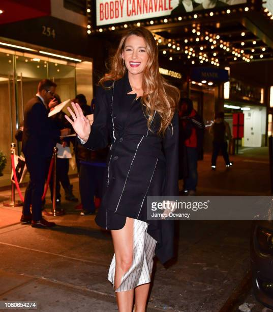Blake Lively leaves Feinstein's/54 Below on January 10 2019 in New York City