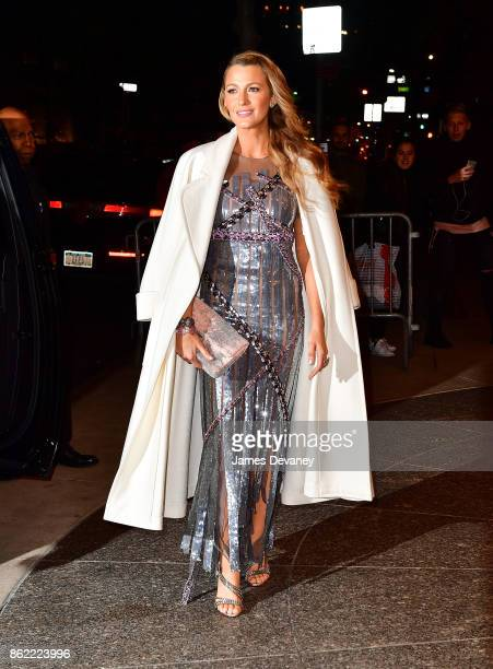 Blake Lively leaves Four Seasons Hotel New York on October 16 2017 in New York City