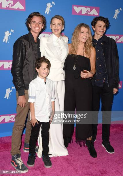 Blake Lively mom Elaine Lively and family attend the 2018 MTV Video Music Awards at Radio City Music Hall on August 20 2018 in New York City