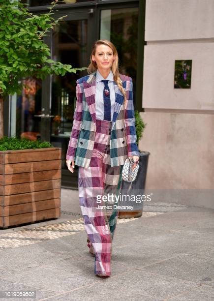 Blake Lively poses outside the Crosby Hotel on August 18 2018 in New York City