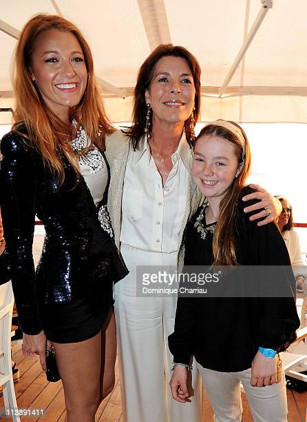 Blake Lively Princess Caroline of Hanover and Princess Alexandra of Hanover attend the Chanel Collection Croisiere Show 201112 at the Hotel du Cap on...