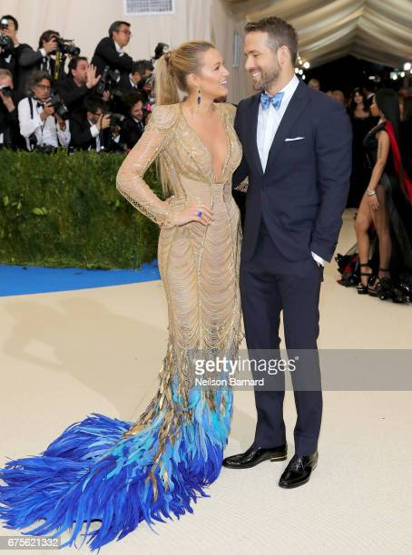 Blake Lively Ryan Reynolds attend the Rei Kawakubo/Comme des Garcons Art Of The InBetween Costume Institute Gala at Metropolitan Museum of Art on May...