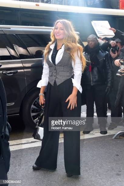 Blake Lively seen at a Michael Kors Collection show in Manhattan on February 12 2020 in New York City