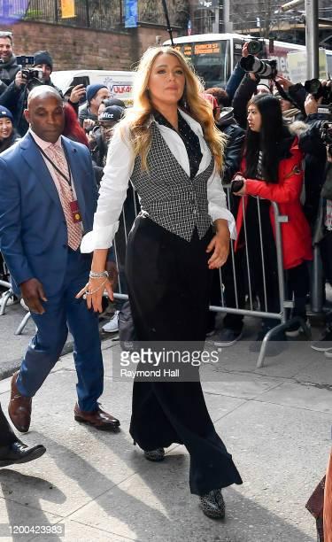 Blake Lively seen at a Michael Kors Collection show on February 12 2020 in New York City