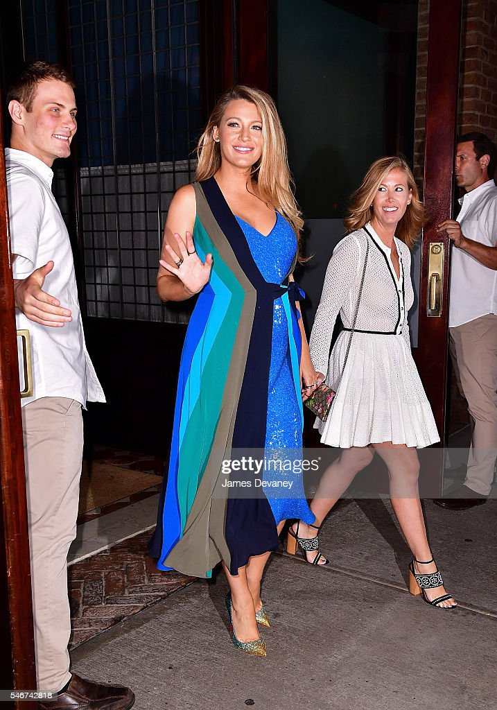 Blake Lively seen on the streets of Manhattan on July 12, 2016 in New York City.