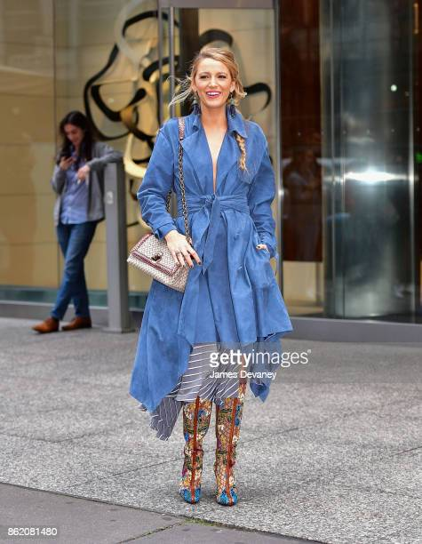 Blake Lively seen on the streets of Manhattan on October 16 2017 in New York City
