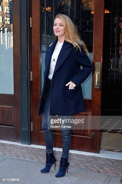 Blake Lively seen out in Tribeca on February 18 2016 in New York City