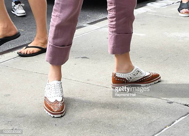Blake Lively shoe detail is seen on August 20 2018 in New York City