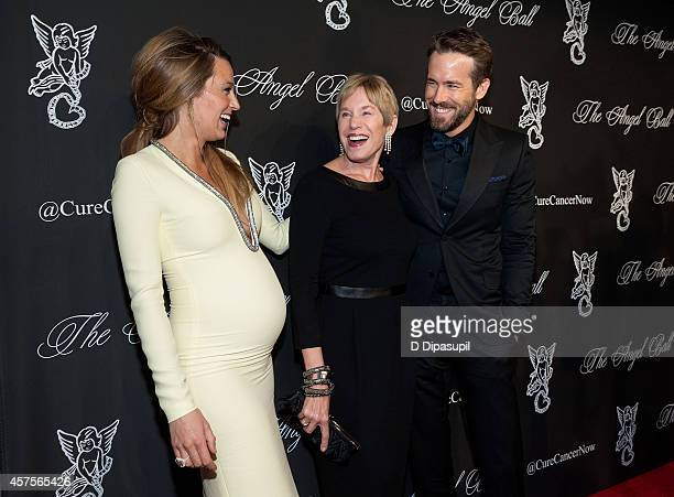 Blake Lively, Tammy Reynolds, and Ryan Reynolds attend the 2014 Angel Ball at Cipriani Wall Street on October 20, 2014 in New York City.