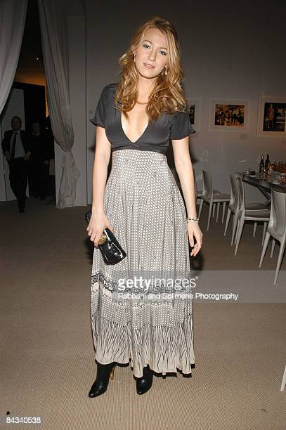 Blake Lively wearing Vena Cava attends the 5th Anniversary of the CFDA/Vogue Fashion Fund at Skylight Studios on November 17 2008 in New York City