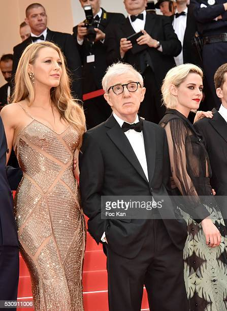 "Blake Lively, Woody Allen and Kristen Stewart attend the screening of ""Cafe Society"" at the opening gala of the annual 69th Cannes Film Festival at..."