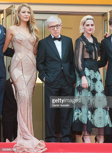 "Blake Lively, Woody Allen and Kristen Stewart attends the screening of ""Cafe Society"" at the opening gala of the annual 69th Cannes Film Festival at..."