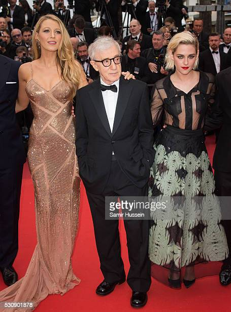 "Blake Lively, Woody Allen, Kristen Stewart attend the screening of ""Cafe Society"" at the opening gala of the annual 69th Cannes Film Festival at..."