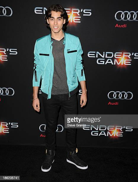 Blake Michael arrives at the Ender's Game Los Angeles Premiere at TCL Chinese Theatre on October 28 2013 in Hollywood California