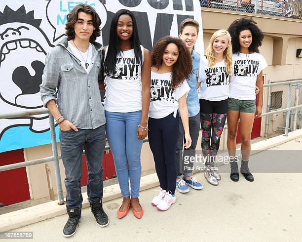 Blake Michael Coco Jones Jadagrace Berry Ryan Beatty Peyton List and Michaela Blanks attend The WATAAH Foundation's 3rd annual Move Your Body 2013...